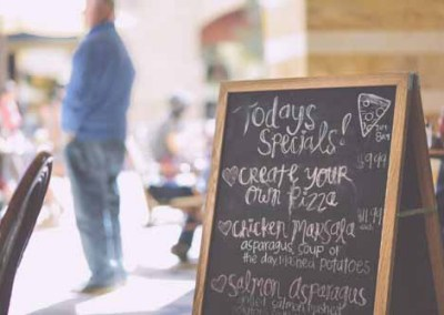 Cafe Chalkboard With 'Todays Specials'