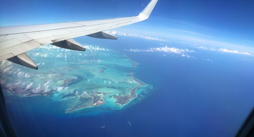 Caribbean Islands From An Airplane Window